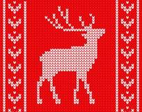 Trykotowi rogacze z wzorami na stronach w stylu trykotowego puloweru ilustracja wektor