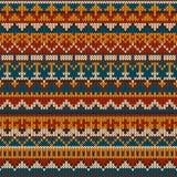 Trykotowy bezszwowy wzór w Uczciwym wyspa stylu EPS dostępny Fotografia Stock