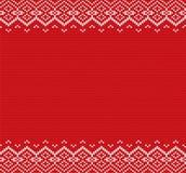 Trykotowy bożego narodzenia tło Rewolucjonistki i białego geometryczny ornament Xmas dzianiny zimy puloweru tekstury projekt ilustracja wektor