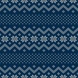 trykotowy deseniowy bezszwowy Świąteczny i Modny puloweru projekt Zdjęcie Stock