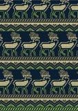 Trykotowy jeleni projekt. Zdjęcia Royalty Free