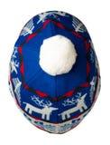 Trykotowy kapelusz odizolowywający na białym tle kapelusz z pompon Fotografia Stock