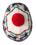 Trykotowy kapelusz odizolowywający na białym tle kapelusz z pompon B Obrazy Royalty Free