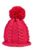 Trykotowy kapelusz z pompon obrazy stock