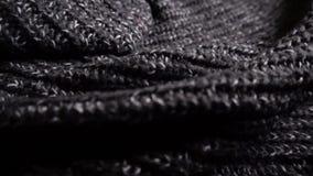Trykotowy kobiety zimy pulower w szarość zakończenie, zwolnione tempo zbiory