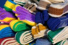 Trykotowy pasek dziewiarska tkaniny patka handmade rękodzieła embroid zdjęcie royalty free