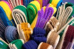 Trykotowy pasek dziewiarska tkaniny patka handmade rękodzieła embroid fotografia stock