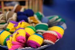 Trykotowy pasek dziewiarska tkaniny patka handmade rękodzieła embroid zdjęcie stock