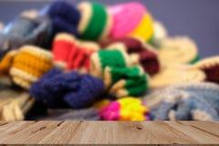Trykotowy pasek dziewiarska tkaniny patka handmade rękodzieła embroid obrazy royalty free