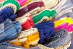 Trykotowy pasek dziewiarska tkaniny patka handmade rękodzieła embroid zdjęcia stock