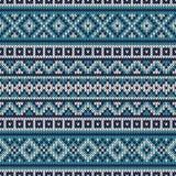 Trykotowy puloweru projekt Uczciwej wyspy Bezszwowy wzór Zdjęcia Royalty Free