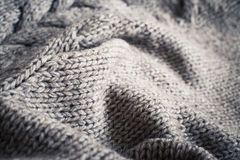 Trykotowy tkaniny wełny tekstury zakończenie up Obraz Royalty Free