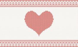 Trykotowy wektoru wzór z sercem ilustracja wektor