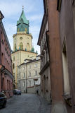 Trynitarska tower near Cathedral of St. John the Baptist and Joh Royalty Free Stock Image