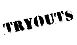 Tryouts rubber stamp Stock Photography
