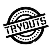 Tryouts rubber stamp Stock Photos
