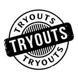 Tryouts rubber stamp Stock Photo
