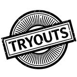 Tryouts rubber stamp Royalty Free Stock Photo