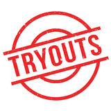 Tryouts rubber stamp Stock Images