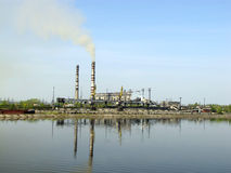 Trypilska能源厂 免版税库存照片