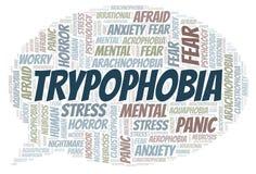 Trypophobia word cloud stock photo