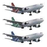 Tryska samoloty ustawiających Zdjęcie Royalty Free
