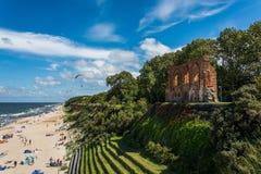 TrzÄ™sacz malownicza miejscowość wypoczynkowa na morzu bałtyckim Obraz Royalty Free
