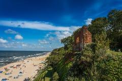 TrzÄ™sacz malownicza miejscowość wypoczynkowa na morzu bałtyckim Zdjęcia Stock