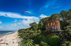 TrzÄ™sacz malownicza miejscowość wypoczynkowa na morzu bałtyckim Zdjęcie Stock