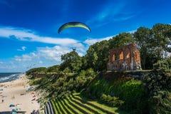 TrzÄ™sacz malownicza miejscowość wypoczynkowa na morzu bałtyckim Zdjęcia Royalty Free
