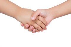 Trząść ręki dwa dziecka Zdjęcia Stock