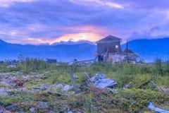Trzęsienia ziemi i stopienia katastrofy naturalne zdjęcie royalty free