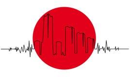 trzęsienie ziemi japończyk royalty ilustracja