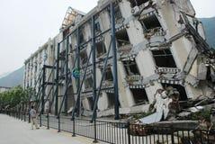 Trzęsienie ziemi niszczy fotografia royalty free