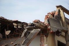 Trzęsienie ziemi niszczy fotografia stock