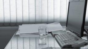Trzęsienie ziemi w biurze zbiory wideo