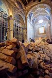 Trzęsienie ziemi w mój kościół obrazy royalty free
