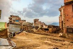 Trzęsienie ziemi szkoda w Kathmandu, Nepal Obrazy Stock
