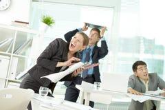 Trzęsienie ziemi w biurze Fotografia Royalty Free