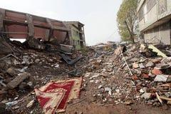 trzęsienie ziemi wioska Zdjęcia Stock