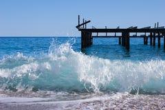 trzasków ciężkiego morza fala Zdjęcie Royalty Free