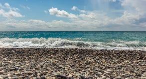 trzasków ciężkiego morza fala zdjęcia royalty free