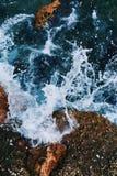 trzasków ciężkiego morza fala Fotografia Stock