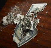 trzask pieniężny fotografia stock