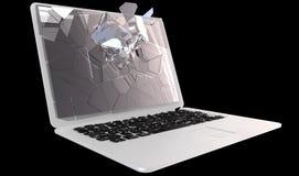 trzaska cyberprzestępstwa laptopu komputer osobisty Zdjęcie Stock