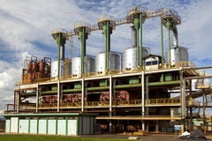 Trzcina cukrowa przemysłowy młyński zakład przetwórczy w Brazylia Zdjęcia Royalty Free
