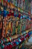 Trzcina kolory na uczciwy budka Obrazy Stock