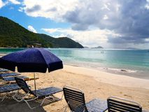 Trzcina ogródu zatoki plaża, Tortola Obraz Stock