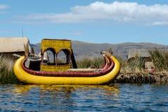 Trzcinowa łódź Zdjęcie Royalty Free