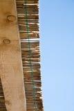 Trzcinowy i drewniany dach Zdjęcia Stock